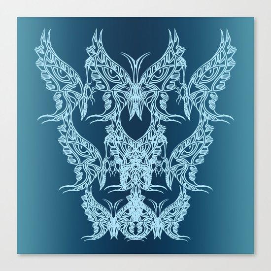Indian Butterfly Enblem Canvas Print