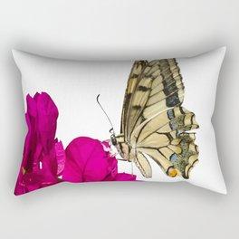 Swallowtail Butterfly On Bougainvillea Rectangular Pillow