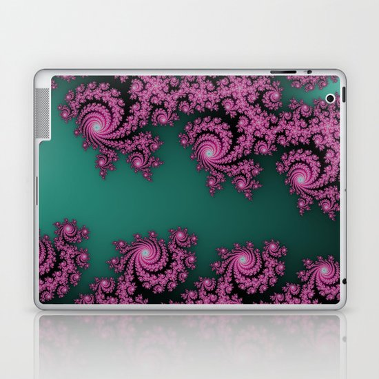 Fractal in Dark Pink and Green Laptop & iPad Skin