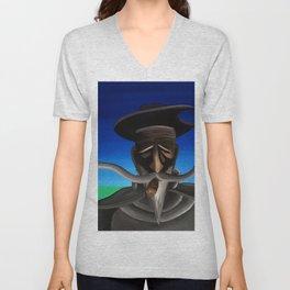 Don Quixote con Puro Unisex V-Neck