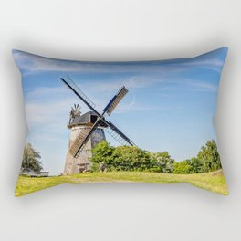 Typical Dutch windmill in Benz on Usedom island Rectangular Pillow