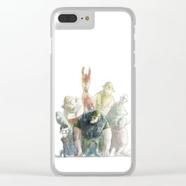 Hillbillies and aliens Clear iPhone Case
