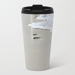Footsteps on Florida's Beach Travel Mug