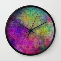 christ Wall Clocks featuring Christ by RingWaveArt
