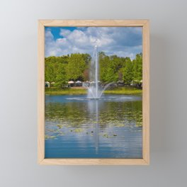 At the Lake Framed Mini Art Print