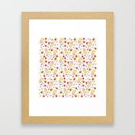 Floral Autumn Pattern Framed Art Print