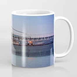 Great Lakes Freighter At Sunset - 2 Coffee Mug