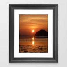 Sunset at Andaman Coast, Thailand Framed Art Print