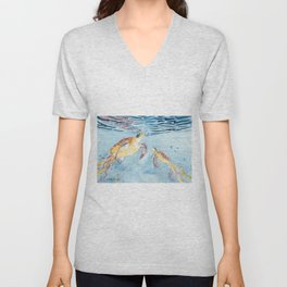 Take A Breath Sea Turtle Unisex V-Neck