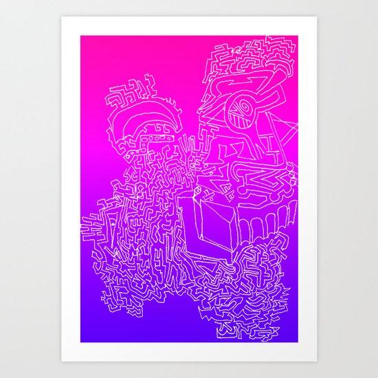 A Mazed Art Print