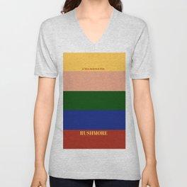 Rushmore minimalist poster Unisex V-Neck