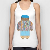 biggie Tank Tops featuring Biggie by Late Greats by Chen Reichert