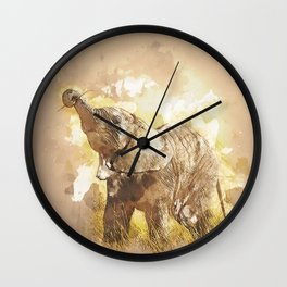 Elephant - It's Tea Time! Wall Clock