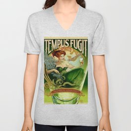 Vintage poster - Tempus Fugit Absinthe Unisex V-Neck