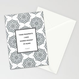 T.S. Eliot - The Waste Land - Shored Against My Ruins Stationery Cards
