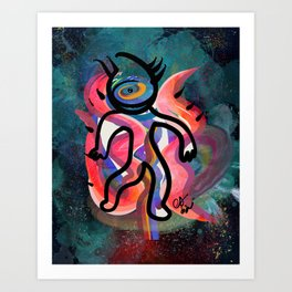The Cyclops Graffiti in the Cosmos by Emmanuel Signorino  Art Print