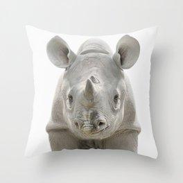 Rino Art Throw Pillow