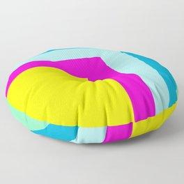 90's colour palette pattern design Floor Pillow