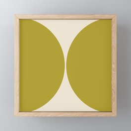 Curvature Minimalism - Green Apple Framed Mini Art Print