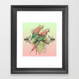 PARROT GARDEN Framed Art Print
