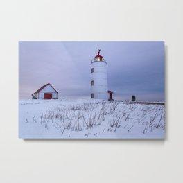 Île Verte Lighthouse Metal Print