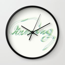 running 2 typography Wall Clock