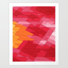 Rosey Abstract  Art Print