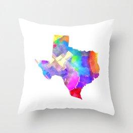 Texas Watercolor Throw Pillow