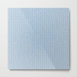 Pale blue tiny pattern Metal Print