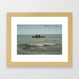 Fishing in Open Waters Framed Art Print