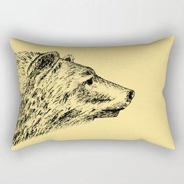 Curious bear Rectangular Pillow