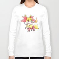 games Long Sleeve T-shirts featuring Flame Games by Randy C
