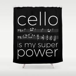 Cello power - black Shower Curtain