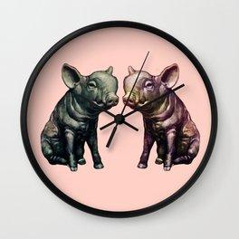 true love (pig love) Wall Clock
