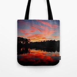 Wildfire sky Tote Bag