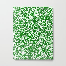 Small Spots - White and Green Metal Print