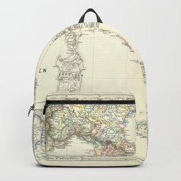 Vintage Map - Spruner-Menke Handatlas (1880) - 23 Italy, 1137 - 1302 Backpack