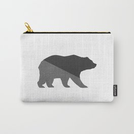Cotton Gray Bear Carry-All Pouch