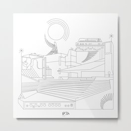 Sound city Metal Print