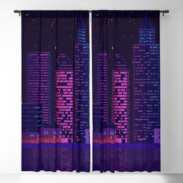 christmas building skyline skyscraper Blackout Curtain