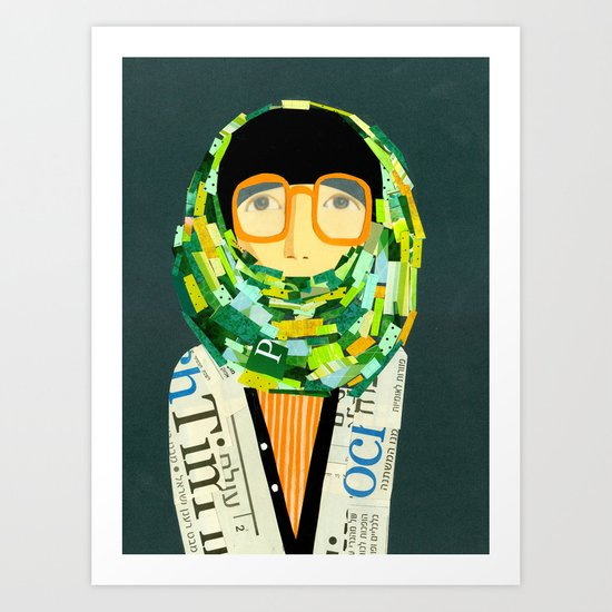 Portrait with glasses Art Print