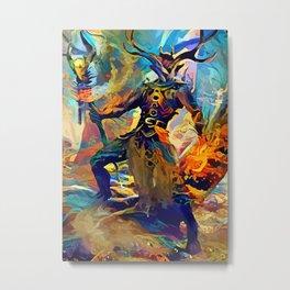 elemental druid Metal Print
