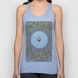 FLOWER POWER BEE Unisex Tank Top