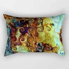 Colorful Wood Spirals Background #Abstract #Nature Rectangular Pillow