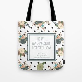 Longfellow quote Tote Bag