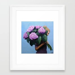 Posy IV / Summer Blooms Framed Art Print