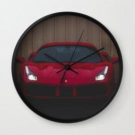 Italian Sports Car Wall Clock