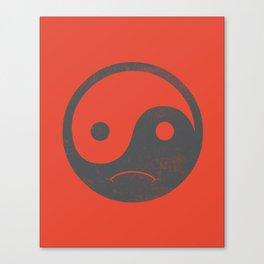yin yang smiley ;-( Canvas Print