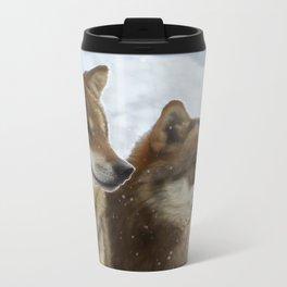 Twin Wolves Metal Travel Mug