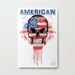 To The Core Collection: USA Metal Print